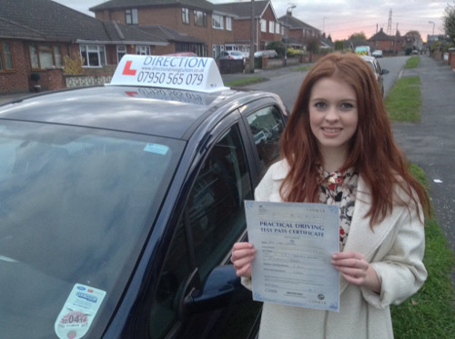 Coral with her certificate!