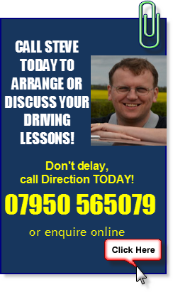 Call Steve at Direction Driving Tuition Coventry
